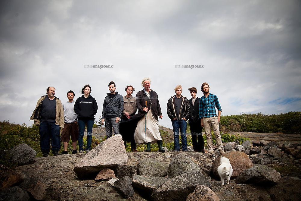 Stavern, Norge, 02.07.2012. Odd Nerdrum snakker ut om dommen og tankene om soning. Foto: Christopher Olssøn.