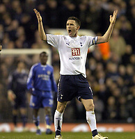 Photo: Olly Greenwood.<br />Tottenham Hotspur v Chelsea. The FA Cup, Quarter Final replay. 19/03/2007. Tottenham's Robbie Keane asks for more from the fans after his penalty