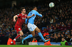 Joe Bryan of Bristol City and Danilo of Manchester City - Mandatory by-line: Matt McNulty/JMP - 09/01/2018 - FOOTBALL - Etihad Stadium - Manchester, England - Manchester City v Bristol City - Carabao Cup Semi-Final First Leg