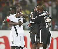 Photo: Steve Bond/Richard Lane Photography.<br /> Ghana v Morocco. Africa Cup of Nations. 28/01/2008. Ghana celebrate qualification