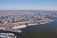Aerial photo of Cruise Termininal at the Port of Maryland with the Carnival Pride