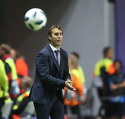 August 15, 2018 - Tallinn, Estonia - Julen Lopetegui, head coach of Real reacts during the UEFA Super Cup between Real Madrid and Atletico Madrid at Lillekula Stadium on August 15, 2018 in Tallinn, Estonia. (Credit Image: © Raddad Jebarah/NurPhoto via ZUMA Press)