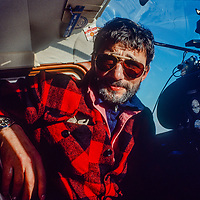 Antarctica. Veteran Polar Pilot, Giles Kershaw, In Cessna 185.  2 Months After This Photo Was Taken In December, 1989, He Was Killed In A Gyrocopter Crash.