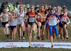 08-12-2013 ATHLETICS: SPAR EC CROSS COUNTRY: BELGRADE<br /> -23 Vrouwen op de 6 km / (L-R) PURDUE, Charlotte GBR, HARRER, Corinna GER, Maureen Koster<br /> ©2013-WWW.FOTOHOOGENDOORN.NL