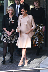 Pregnant Duchess of Sussex Meghan seen leaving the National Theatre - London. 30 Jan 2019 Pictured: Duchess of Sussex Meghan. Photo credit: mega TheMegaAgency.com +1 888 505 6342