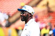January 31 2016: Hall of Famer Jerry Rice before the Pro Bowl at Aloha Stadium on Oahu, HI. (Photo by Aric Becker/Icon Sportswire)