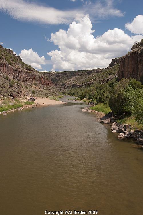 Rio Grande at John Dunn Bridge, Arroyo Hondo, New Mexico.