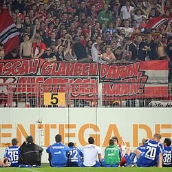 Mainz 13.04.2009, 2. Bundesliga, 1. FSV Mainz 05 - SC Freiburg, die Fans feiern ihre Mannschaft<br /> <br /> Foto © Rhein-Neckar-Picture *** Foto ist honorarpflichtig! *** Auf Anfrage in höherer Qualität/Auflösung. Belegexemplar erbeten.