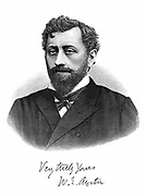 William Edward Ayrton (1847-1908) British physicist, electrical engineer and inventor. Professor of electrical engineering, South Kensington, London. Engraving published 1892