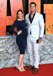 Jacqueline Jossa (left)and Dan Osborne attending the European premiere of Rampage, held at the Cineworld in Leicester Square, London. Photo credit should read: Doug Peters/EMPICS Entertainment