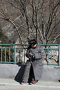 China, Beijing, Ming Dynasty Tombs, Changling Tomb, a local policeman