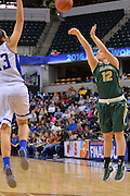 April 4, 2016; Indianapolis, Ind.; Jenna Buchanan puts up a three point shot in the NCAA Division II Women's Basketball National Championship game at Bankers Life Fieldhouse between UAA and Lubbock Christian. The Seawolves lost to the Lady Chaps 78-73.