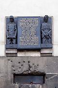 Gedenktafel an der Kirche St. Kyrill und St. Method in der Resslova Strasse.