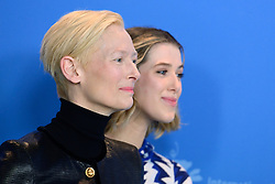Tilda Swinton and her daughter Honor Swinton-Byrne attending The Souvenir Photocall as part of the 69th Berlin International Film Festival (Berlinale) in Berlin, Germany on February 12, 2019. Photo by Aurore Marechal/ABACAPRESS.COM