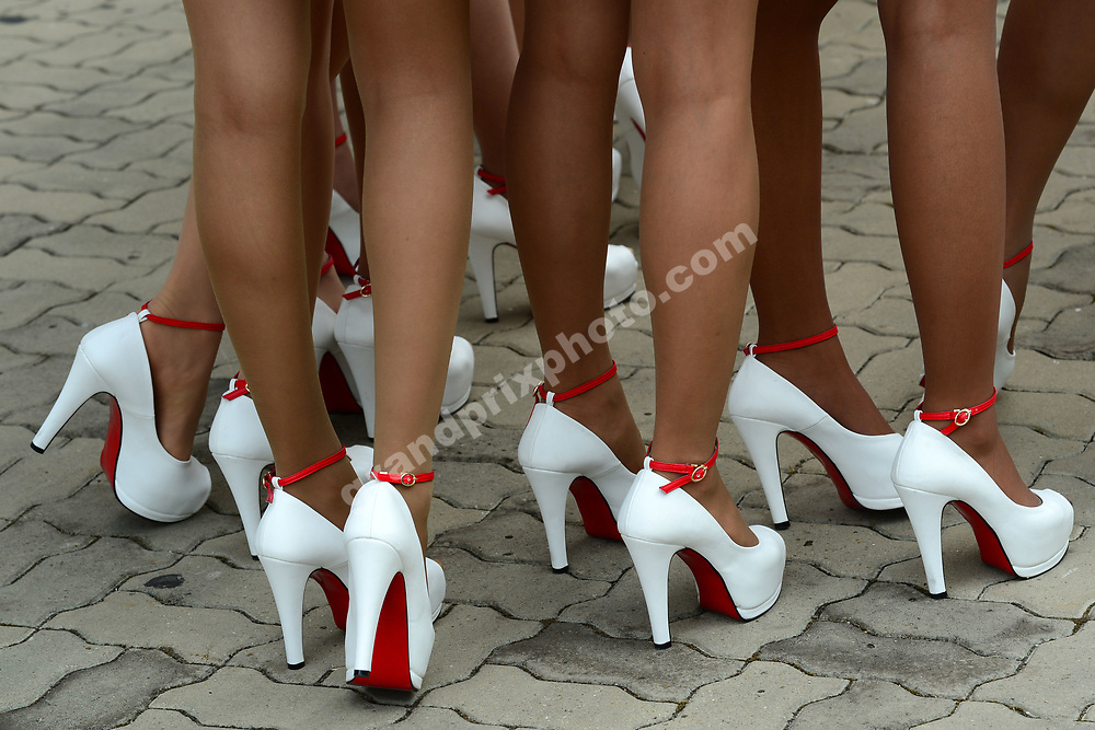 Shoes of grid girls before the 2013 Korean Grand Prix in Yeongam. Photo: Grand Prix Photo