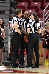 30 January 2015:  Rod Creech, Kevin Dillard, and Amy Bonner during an NCAA women's basketball game between the Bradley Braves and the Illinois Sate Redbirds at Redbird Arena in Normal IL
