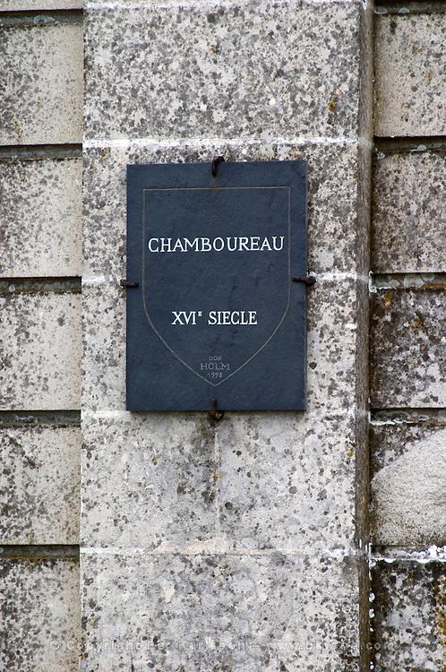 Chateau de Chamboureau. Savennieres, Anjou, Loire, France