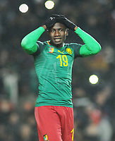 Football - 2018 / 2019 International Friendly - Brazil vs. Cameroon<br /> <br /> Fabrice Olinga of Cameroon after missing a last minute chance, at Stadium MK, Milton Keynes,<br /> <br /> COLORSPORT/ANDREW COWIE