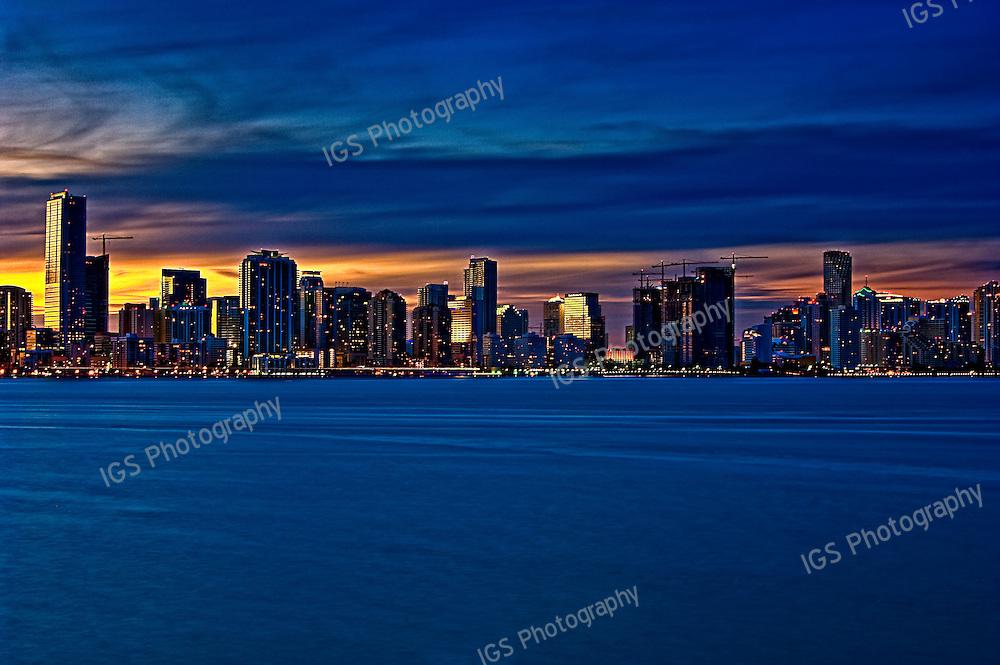 Miami Skyline taken from Key Biscayne
