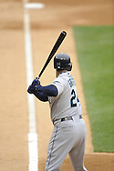 CHICAGO - APRIL 28:  Ken Griffey Jr. #24 of the Seattle Mariners bats against the Chicago White Sox during the first game of a doubleheader on April 28, 2009 at U.S. Cellular Field in Chicago, Illinois.  The White Sox defeated the Mariners 2-1.  (Photo by Ron Vesely)