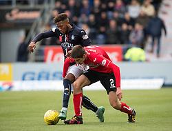 Falkirk's Myles Hippolyte and Dunfermline's Ryan Williamson. Falkirk 2 v 1 Dunfermline, Scottish Championship game played 15/10/2016, at The Falkirk Stadium.