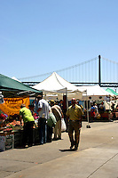 Started as a one time event in 1992 the Ferry Plaza Farmers Market  popularity led to the opening of a regular Saturday market.  Nowadays 15,000 faithful shoppers attend the market because it reconnects them with their food sources. Shopping at a farmers market provides a forum for learning how food is grown, who grew it and why it tastes so good.