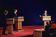 The Bush Perot Clinton Debate in Lancing Michigan on October 19, 1992<br />Photo by Dennis Brack