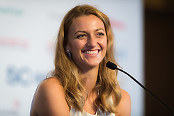 October 20, 2018 - Kallang, SINGAPORE - Petra Kvitova of the Czech Republic talks to the media during the All Access Hour of the 2018 WTA Finals tennis tournament (Credit Image: © AFP7 via ZUMA Wire)