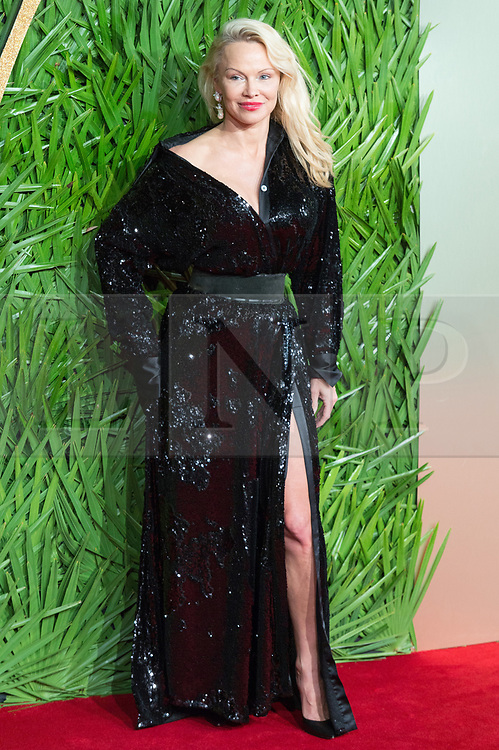 © Licensed to London News Pictures. 04/12/2017. London, UK. PAMELA ANDERSON arrives for The Fashion Awards 2017 held at the Royal Albert Hall. Photo credit: Ray Tang/LNP
