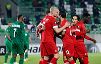 RAZGRAD, BULGARIA - OCTOBER 22: Pieter Gerkens of Antwerp celebrates after scoring his goal for 1-1 in 63rd minute with his team mates during the UEFA Europa League Group J stage match between PFC Ludogorets Razgrad and Royal Antwerp at Ludogorets Arena on October 22, 2020 in Razgrad, Bulgaria. (Photo by Nikola Krstic/MB Media)