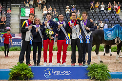 Leclezio Lambert, FRA, Heiland Jannik, GER, Brüsewitz Thomas, GER<br /> World Equestrian Games - Tryon 2018<br /> © Hippo Foto - Stefan Lafrenz<br /> 22/09/18