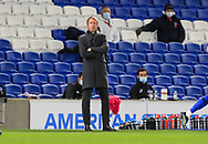 Brighton and Hove Albion manager Graham Potter during the Premier League match between Brighton and Hove Albion and Everton at the American Express Community Stadium, Brighton and Hove, England UK on 12 April 2021.