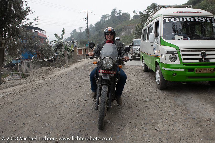 Danny Ochs on day-9 of our Himalayan Heroes adventure riding from Pokhara to Nuwakot, Nepal. Wednesday, November 14, 2018. Photography ©2018 Michael Lichter.