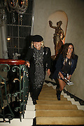 Anita Pallenberg and Julie Bloom, Biba after-show party organised by Quinessentially.  Royal Duchess Palace, 16 Mansfield Street, London W1. 19 September 2006.  ONE TIME USE ONLY - DO NOT ARCHIVE  © Copyright Photograph by Dafydd Jones 66 Stockwell Park Rd. London SW9 0DA Tel 020 7733 0108 www.dafjones.com