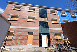 Major Renovation Litchfield Hall WCSU Danbury CT<br /> Connecticut State Project No: CF-RD-275<br /> Architect: OakPark Architects LLC  Contractor: Nosal Builders<br /> James R Anderson Photography New Haven CT photog.com<br /> Date of Photograph: 29 March 2017<br /> Camera View: 08 - South Elevation, West End