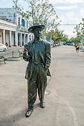 Cienfuegos, Cuba. Statue of Bartolome Maximiliano Moré (24 August 1919 – 19 February 1963), known as Benny More,
