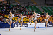 "Italian rhythmic gymnastics senior group during the ""7th tournament city of Desio"", 09 March 2019."