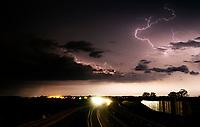 Podlasie, 07.06.2020. Silne burze przeszly noca w okolicach Bialegostoku N/z chmury burzowe i pioruny fot Michal Kosc / AGENCJA WSCHOD