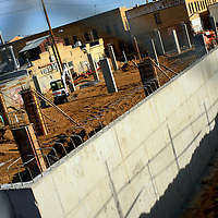 112913  Adron Gardner/Independent<br /> <br /> Construction progresses for the Care 66 Hooghan Hózhó apartments on Coal Avenue in Gallup Friday.