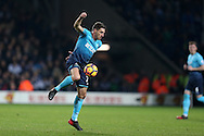 Angel Rangel of Swansea city in action.  Premier league match, West Bromwich Albion v Swansea city at the Hawthorns stadium in West Bromwich, Midlands on Wednesday 14th December 2016. pic by Andrew Orchard, Andrew Orchard sports photography.