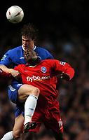 Fotball<br /> FA-cup 2005<br /> Chelsea v Birmingham<br /> 30. januar 2005<br /> Foto: Digitalsport<br /> NORWAY ONLY<br /> Robert Huth Chelsea/ Emile Heskey Birmingham City