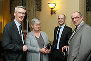 John Bourke CEO of ijoin, Helen McKenna Finglas/Cabra MABS, Karl Cronin Cavan MABS and Derek Teeling Finglas/Cabra MABS at the EFQM Ireland Excellence Awards ceremony in association with Fáilte Ireland and the Centre for Competitiveness at the Galway Bay Hotel on Friday night. Photo:- Andrew Downes Photography / No Fee