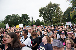 October 6, 2018 - Washington, DC, USA - Hundreds of protesters gather outside the U.S. Supreme Court and Capitol Building while the Senate voted to confirm Judge Brett Kavanaugh to the Supreme Court. (Credit Image: © Erin Scott/ZUMA Wire)
