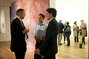 NEIL WENMAN; JONATHAN CROCKETT; ANDREW CROCKETT; , Reception of the Silent Auction for the South London Gallery.  Hauser and Wirth. Savile Row. London. 13 October 2011. <br /> <br />  , -DO NOT ARCHIVE-© Copyright Photograph by Dafydd Jones. 248 Clapham Rd. London SW9 0PZ. Tel 0207 820 0771. www.dafjones.com.
