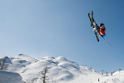 Skier during Europa Cup Slopestyle Vogel 2014, on March 16, 2014 at Vogel, Slovenia. Photo by Urban Urbanc / Sportida.com