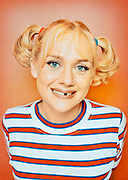 Nicole Sullivan portraying the character Alfred P. Newman of Mad Magazine.