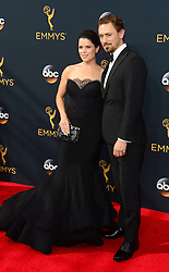 September 18, 2016 - Los Angeles, CA, USA - Neve Campbell and JJ Feild arrive at the 68th Annual Emmy Awards at the Microsoft Theater in Los Angeles, California on Sunday, September 18, 2016. (Credit Image: © Michael Owen Baker/Los Angeles Daily News via ZUMA Wire)