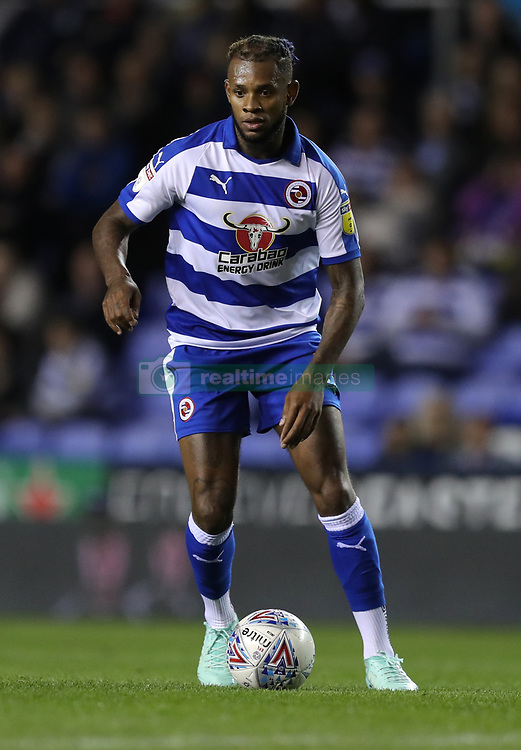 """Reading's Leandro Bacuna during the Sky Bet Championship match between Reading and Queens Park Rangers. PRESS ASSOCIATION Photo. Picture date:  Tuesday October 2, 2018. See PA story SOCCER Reading. Photo credit should read: Andrew Matthews/PA Wire. RESTRICTIONS: EDITORIAL USE ONLY No use with unauthorised audio, video, data, fixture lists, club/league logos or """"live"""" services. Online in-match use limited to 120 images, no video emulation. No use in betting, games or single club/league/player publications"""