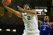 WACO, TX - JANUARY 7: Rico Gathers #2 of the Baylor Bears drives to the basket against the Kansas Jayhawks on January 7, 2015 at the Ferrell Center in Waco, Texas.  (Photo by Cooper Neill/Getty Images) *** Local Caption *** Rico Gathers