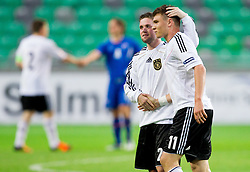 Pascal Itter of Germany and Maximilian Dittgen of Germany after the UEFA European Under-17 Championship Group A match between Iceland and Germany on May 7, 2012 in SRC Stozice, Ljubljana, Slovenia. Germany defeated Iceland 1-0. (Photo by Vid Ponikvar / Sportida.com)